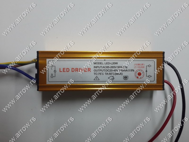 LED NAPAJANjE ZA LED CHIP 20W